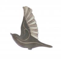 Fugler i sølv. Oksidert, blank, forgylt, blank